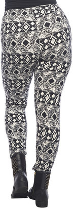 Wet Seal Abstract Diamond Print Seamless Leggings