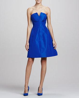 Monique Lhuillier Strapless A-line Party Dress, Royal Blue