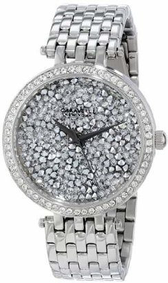 Caravelle New York Women's 43L160 Analog Display Japanese Quartz White Watch $120 thestylecure.com