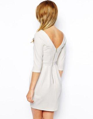 Closet Textured Pencil Dress With 3/4 Sleeve