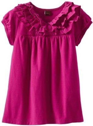 Tea Collection Girls 7-16 Short Sleeve Ruffle Top