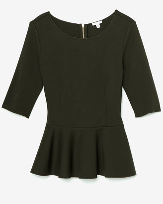 Intermix Exclusive For Ponte Peplum Top