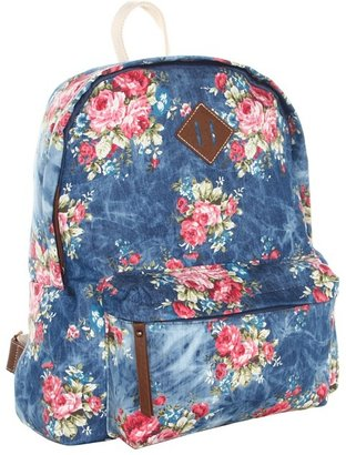 Steve Madden Too Kool For School Back Pack (Denim) - Bags and Luggage
