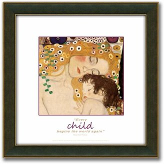 """Personal-prints """"The Three Ages of Woman"""" Framed Canvas Art By Gustav Klimt - 14"""" x 14"""""""