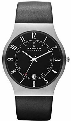 Skagen Men's Sundby Quartz Stainless Steel and Leather Casual Watch