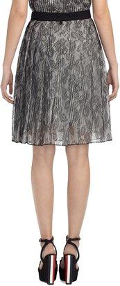 Brooks Brothers Pleated Lace Skirt