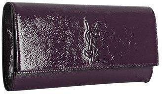 Yves Saint Laurent purple glazed leather 'Belle De Jour' clutch