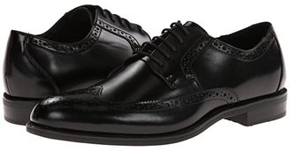 Stacy Adams Garrison Wingtip Oxford (Black Leather) Men's Lace Up Wing Tip Shoes