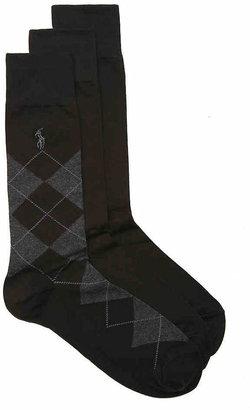 Polo Ralph Lauren Argyle Dress Socks - 3 Pack - Men's