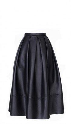 Tibi Leather Full Skirt