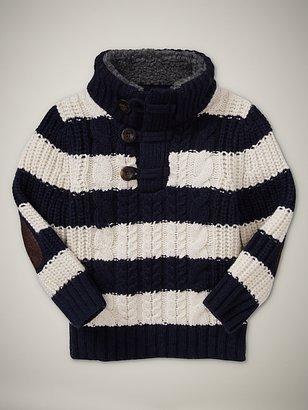 Gap Striped mockneck sweater