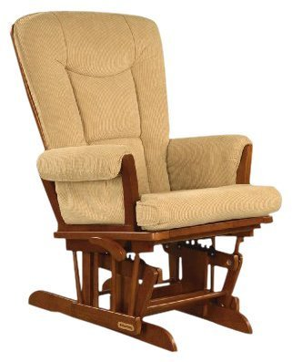 Shermag Glider Rocker - Chablis with Camel Micro Fabric