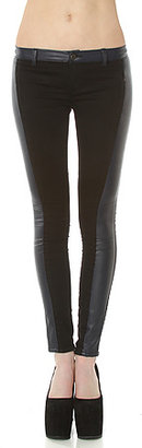 Blank NYC The Faux Leather & Ponte Paneled Pant in Re-Tweet