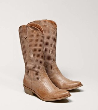 American Eagle AEO Perforated Cowboy Boot