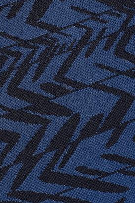 Herve Leger Dagny printed asymmetric bandage dress
