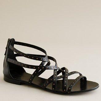 J.Crew Reese studded back-zip gladiator sandals