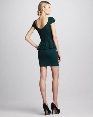 Amanda Uprichard Ponte Peplum Dress