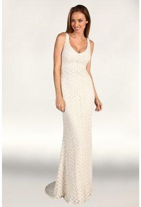 Badgley Mischka No Belt Gown (Ivory) - Apparel