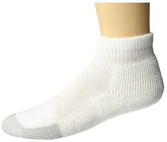 Thorlos Tennis Mini-Crew Single (White) Quarter Length Socks Shoes