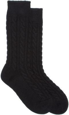 Corgi Cashmere Cable-Knit Midcalf Socks