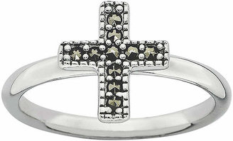 Silver Cross FINE JEWELRY Personally Stackable Marcasite Sterling Ring