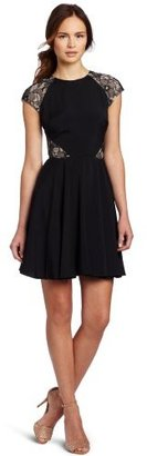 Erin Fetherston ERIN Women's Fit and Flare Dress with Lace