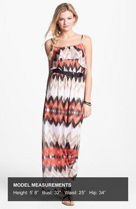 As U Wish Ruffle Maxi Dress (Juniors) (Online Only)