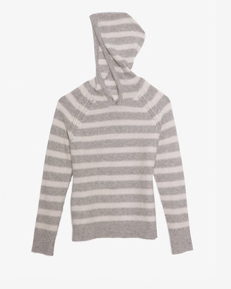 Intermix Exclusive For Striped Cashmere Hoodie