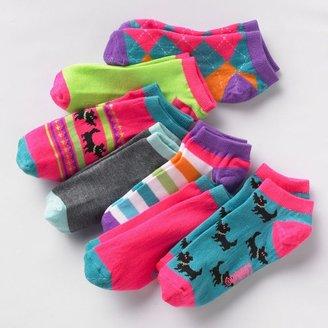 Pink Cookie 7-pk. puppy shortie socks - girls