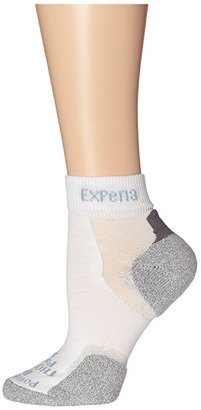 Thorlos Experia(r) Mini Crew 3-Pair Pack (White) Quarter Length Socks Shoes