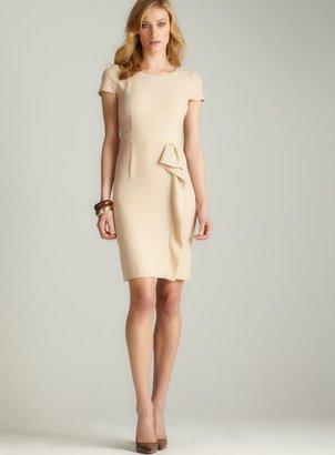 Gerard Darel Cap Sleeve Ruffle Dress in Light Brown