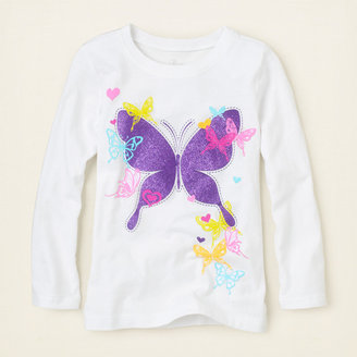 Children's Place Distressed butterfly graphic tee