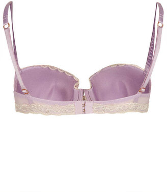Topshop Satin and Lace Balcony Bra