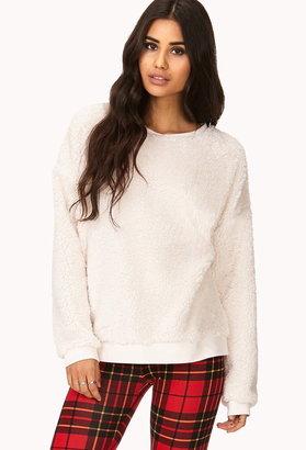 Forever 21 Cozy Faux Fur Sweatshirt