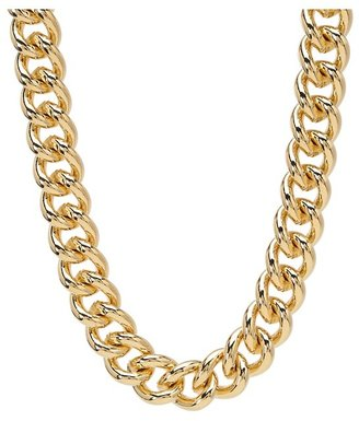 Lauren Ralph Lauren 18 Large Curb Chain w/Medallion Charm Necklace (Gold) - Jewelry