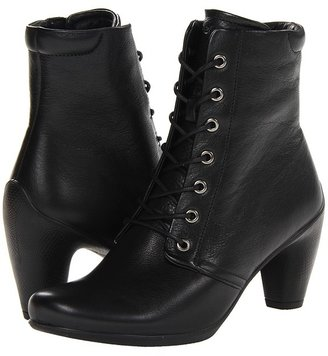 Ecco Sculptured 65 High Lace Bootie (Black Old West) - Footwear