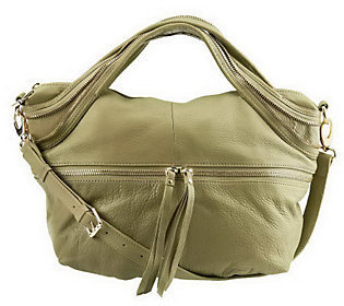Kelsi Dagger Mackenzie Pebble Leather Convertible Satchel $118.80 thestylecure.com