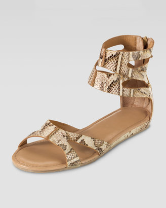 Cole Haan Kimry Snake-Print Flat Sandal