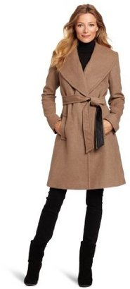 Larry Levine Women's Luxuriously Soft Belted Wool Coat