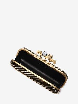 Alexander McQueen Studded Knucklebox Clutch