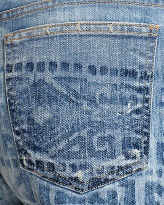 Current/Elliott Jean Shorts - The BoyfriendTM Short with Tribal Print in Bleach Out