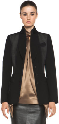 Givenchy Satin Detailed Jacket in Black