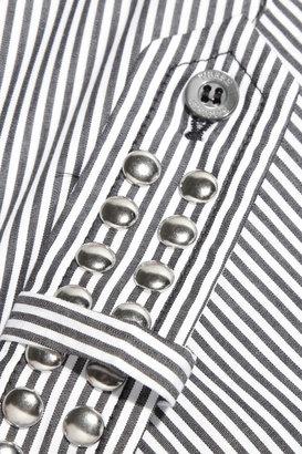 Balmain Pierre Camicia studded striped cotton top