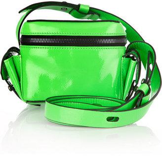 Karl Lagerfeld Patent-leather mini camera bag