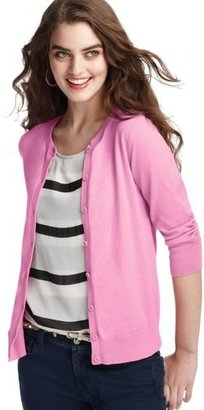 LOFT Pima Cotton 3/4 Sleeve Cardigan