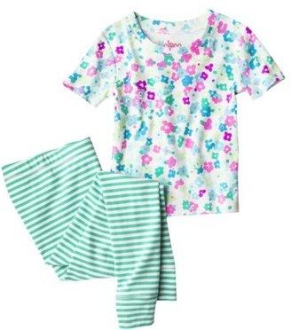 Xhilaration Girls' Peace Sign 2-Piece Tight Fit Pant Pajama Set