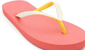 LA Hearts Eva Coloblock Neon Red Sandals