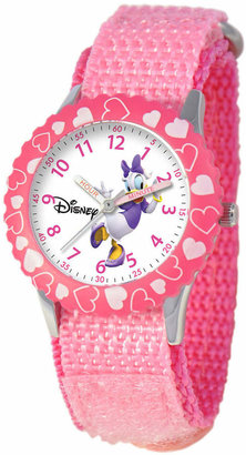 Disney Watch, Kid's Daisy Duck Time Teacher Pink Strap 31mm W000146