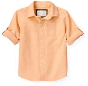Janie and Jack Linen Roll Cuff Shirt