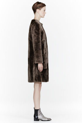 Marc by Marc Jacobs Brown Hudson Shearling Coat